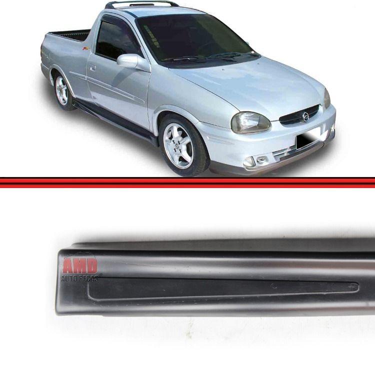 Par Spoiler Lateral Corsa Pick-Up 95 a 03 Sem Tela Preto