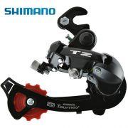 Cambio traseiro Shimano TZ 50 com gancheira
