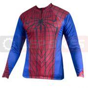Camisa para Ciclismo Manga Longa - Homem Aranha