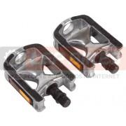 Pedal MTB Alumínio Emborrachado com Refletor