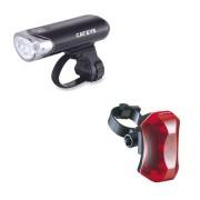 Kit de Luz / Lanterna / Luz Dianteira e Traseira Cateye para Bike