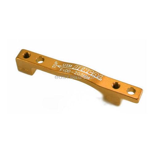 Adaptador freio disco Bengal U5M 203mm PM/PM (Diant/Tras) Dourado
