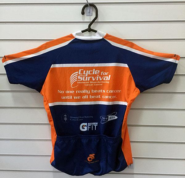 Camisa Ciclismo Cycle for Survaival Azul e Larj - Zero! USADA Tam M