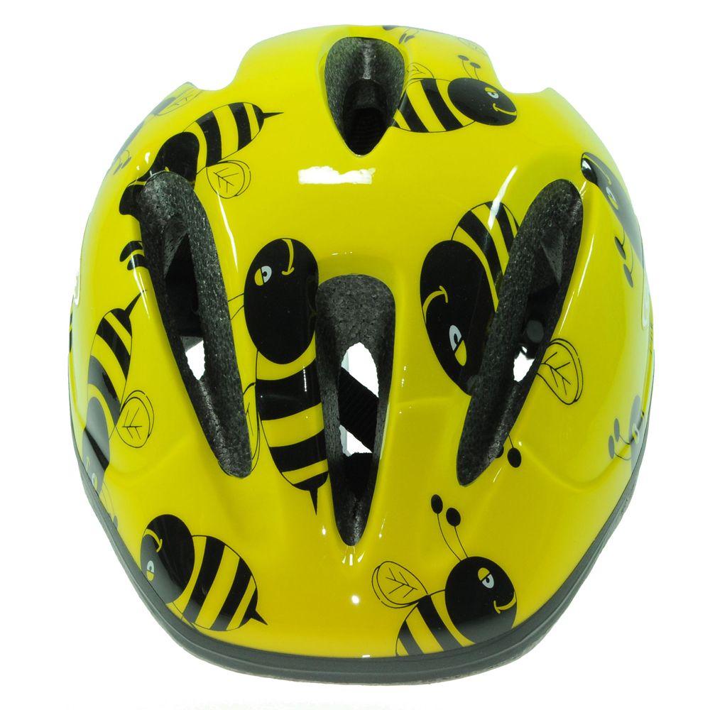 Capacete Infantil para bike Amarelo / Abelhas