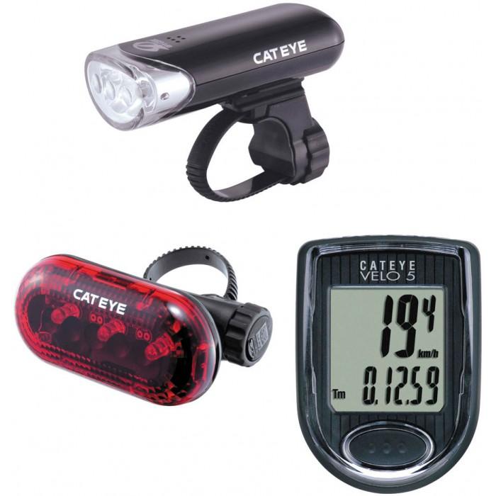 Kit Luz / ciclocompuador Cateye - Bike Velo 5