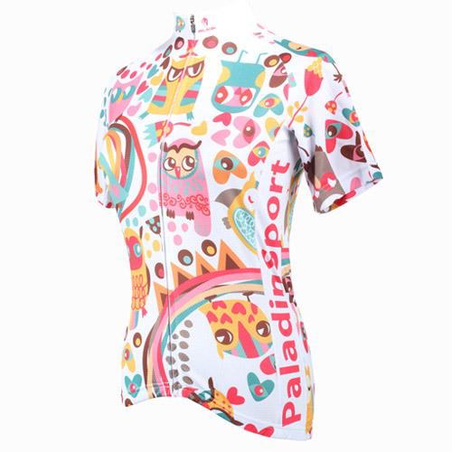 Camisa Unissex para Ciclismo Paladin Corujas Tamanho P