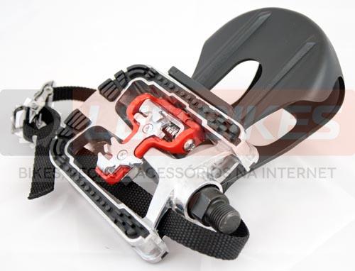 Pedal Fitness / Spinning Alum com Engate p/ Sapatilha e FirmaPé