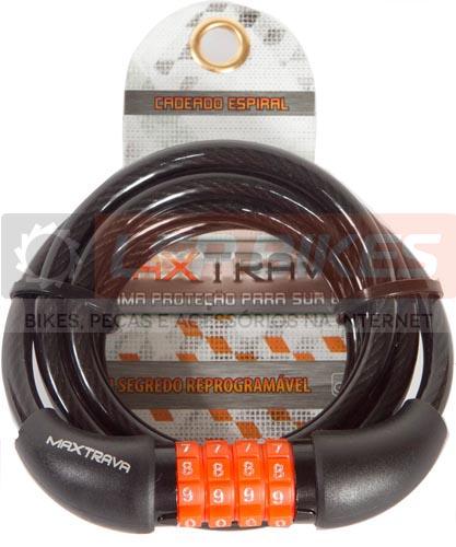 Cadeado Espiral com segredo Max Trava 8mm x 1500mm