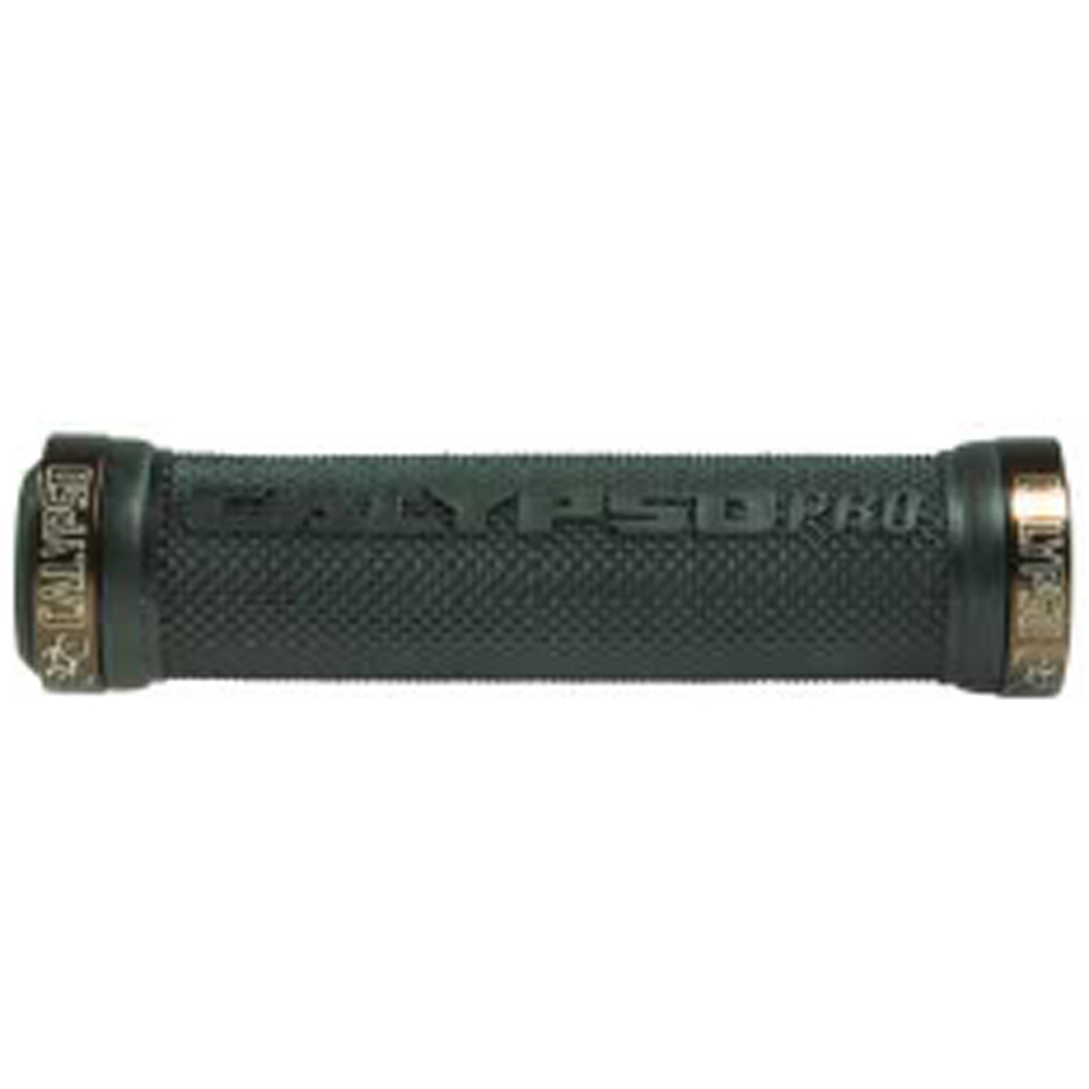 Manopla para Bike -  Pró Lock MTB 130mm Calypso Marrom/Preta c/ Trava