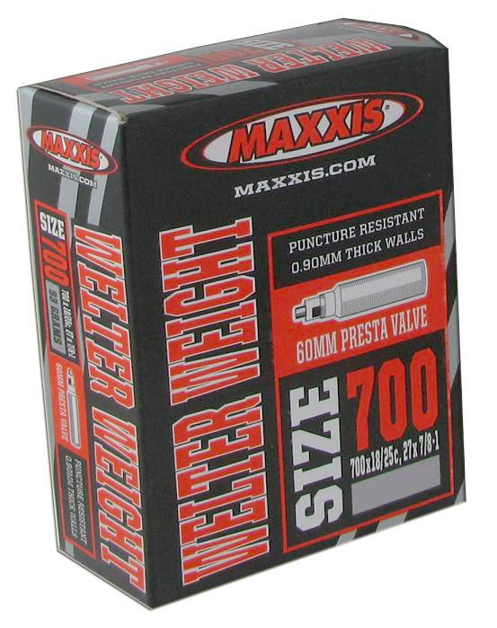 Câmara MAXXIS 700x18/25, 27x7/8-1 V.Presta 60mm RVC(válvula removível)