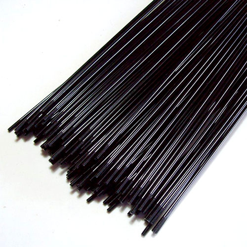 Raio Aço Inox Preto 260mm x 2 - Jogo com 36 + Niples (aro 26)