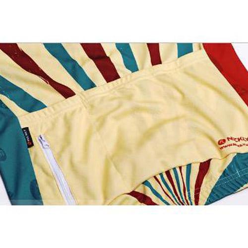 Camisa Unissex para Ciclismo Nuckily Azul, Vermelha e dourada Tamanho P