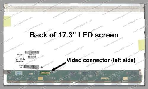 Tela 17.3  Led 40 Pinos Para Asus G73sw-a1  Wuxga 1920x1080 - EASY HELP NOTE