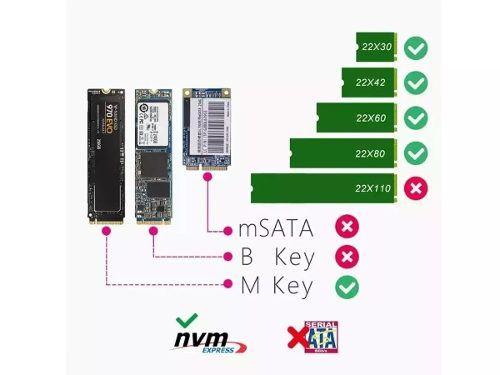 Case Adaptador Ssd M.2 Nvme Pci-e Usb 3.1 Type C 10 Gbs Evo ( case 3.1-NGFF ) - EASY HELP NOTE