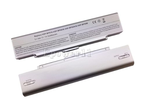 Bateria Para Sony Vgn-cr410 E/p   Bps9  Prata 4400mah Cel 6 - EASY HELP NOTE