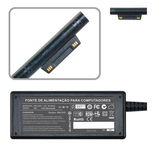Fonte Carregador 15v 1.6a Para Surface Pro M3 849 - EASY HELP NOTE