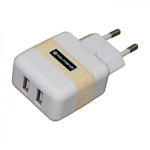 Fonte Carregador Dual Usb Branco  Para  Tablet (763) - EASY HELP NOTE