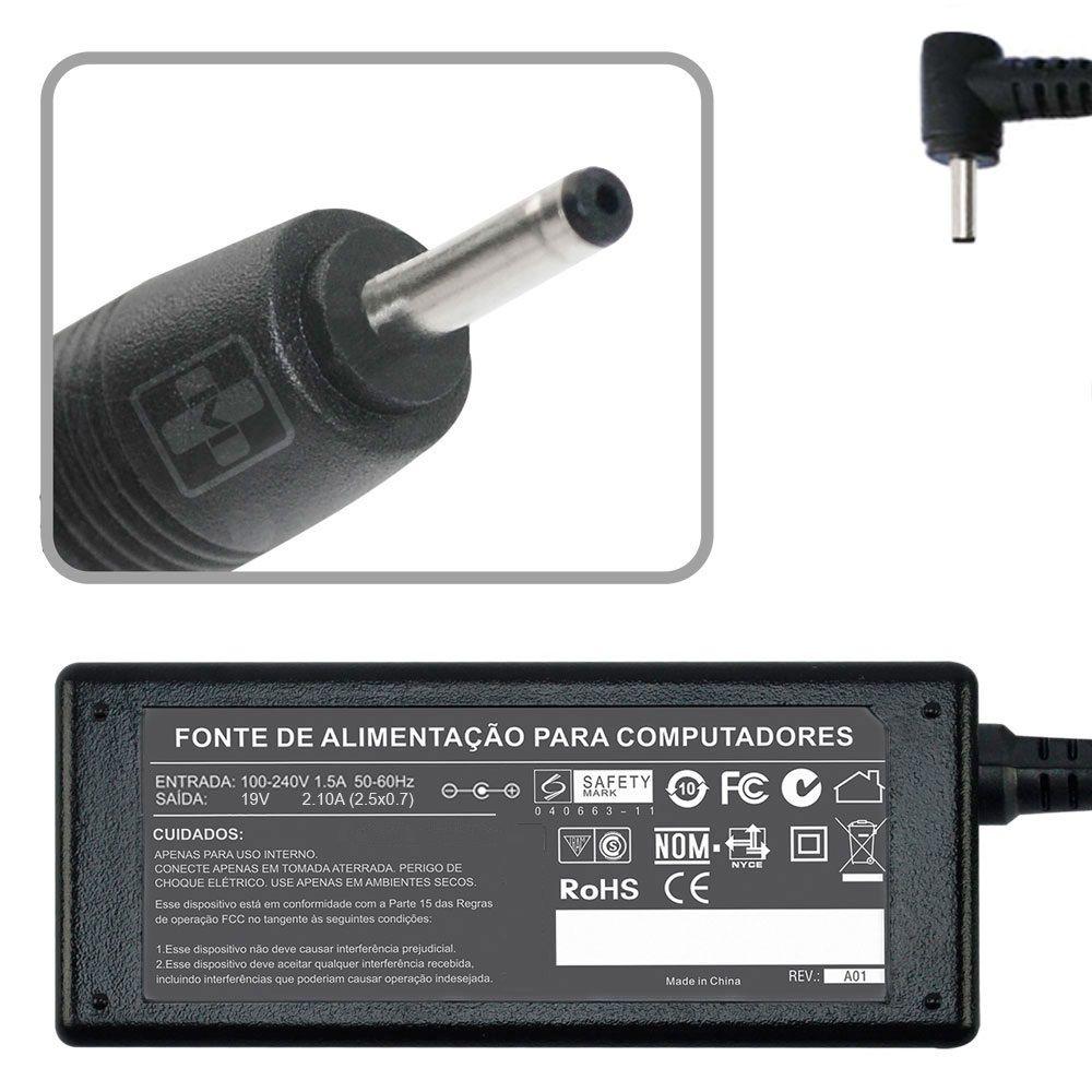 Fonte Carregador Asus Eeepc 1101ha-mu1 19v 2.1a 40w MM 608 - EASY HELP NOTE