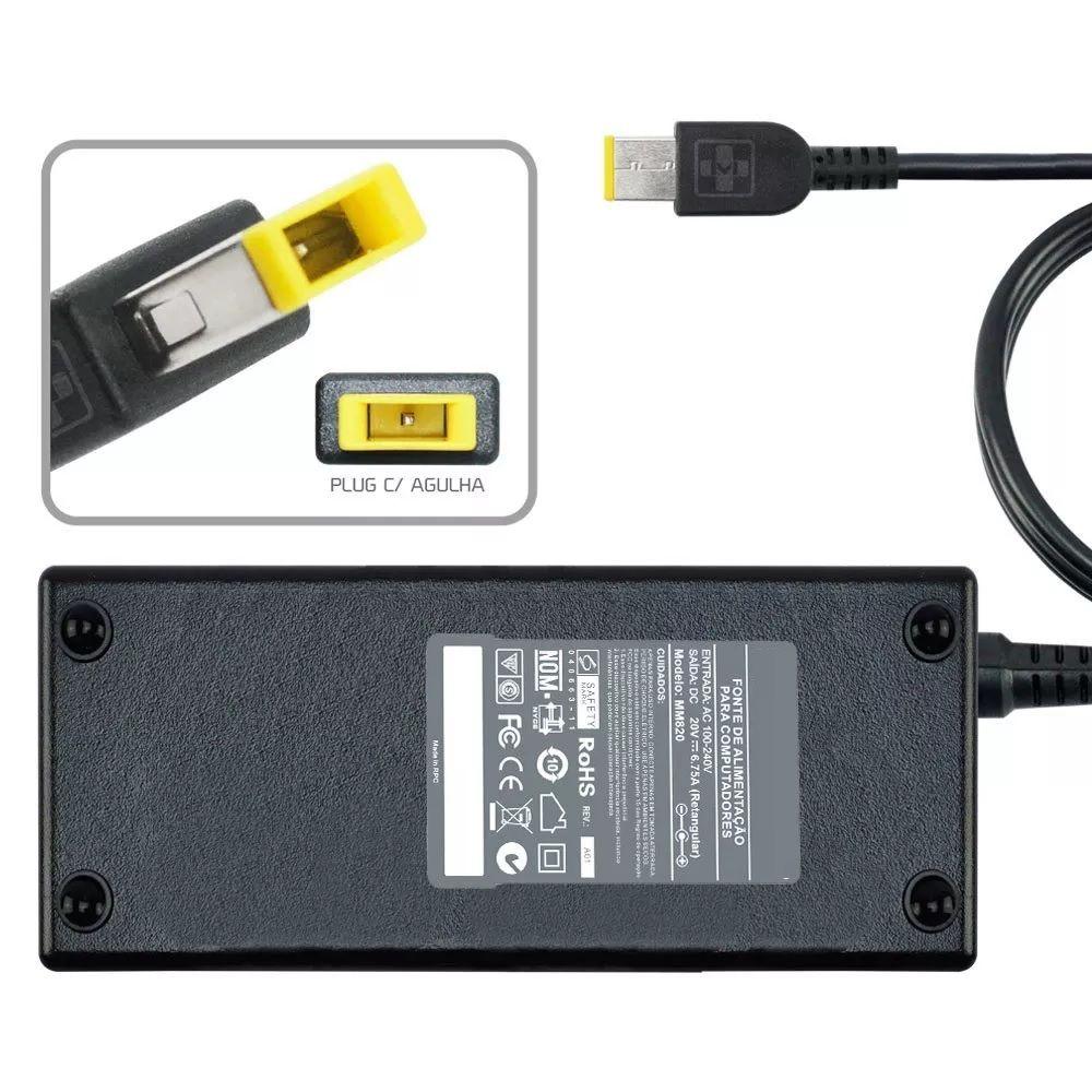 Fonte Carregador P/ Lenovo Thinkpad W540 20v 6.75a 135w MM 820 - EASY HELP NOTE