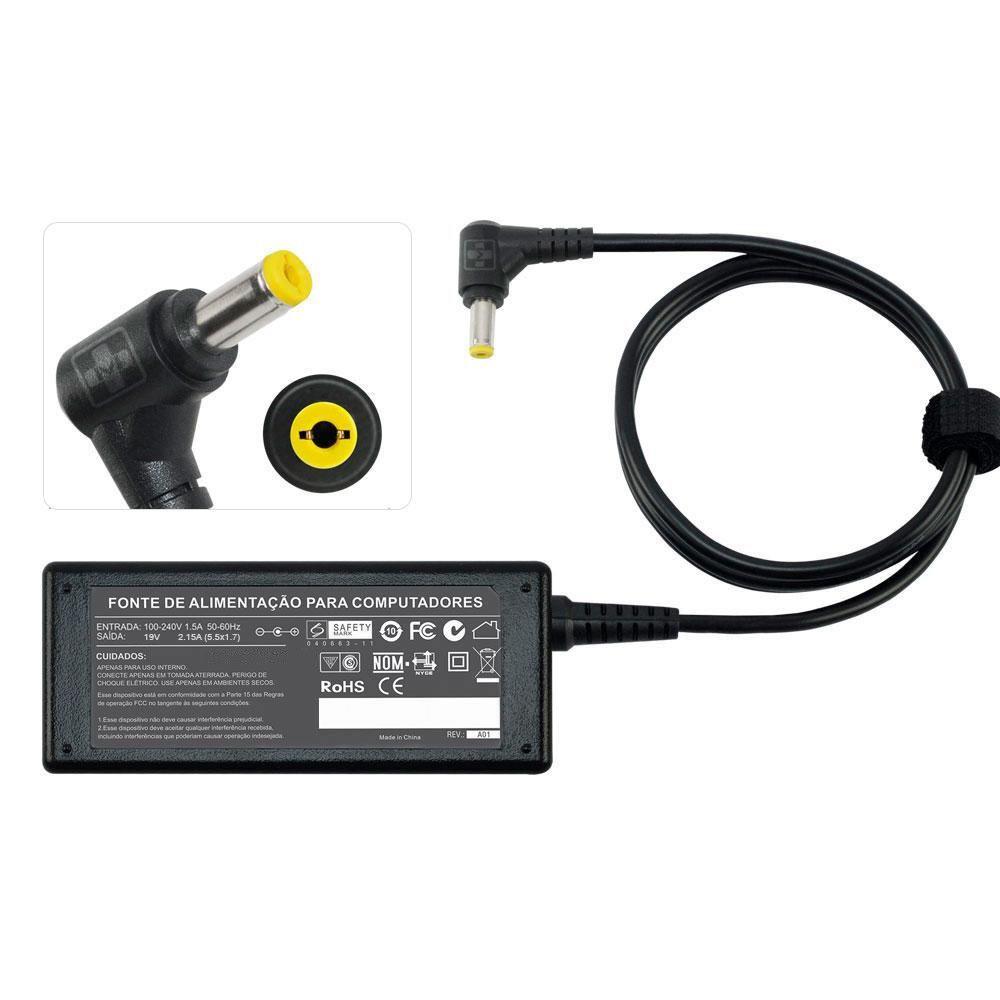 Fonte Carregador Para Acer Aspire One  533 - 19v 2.15a 40w MM 645 - EASY HELP NOTE
