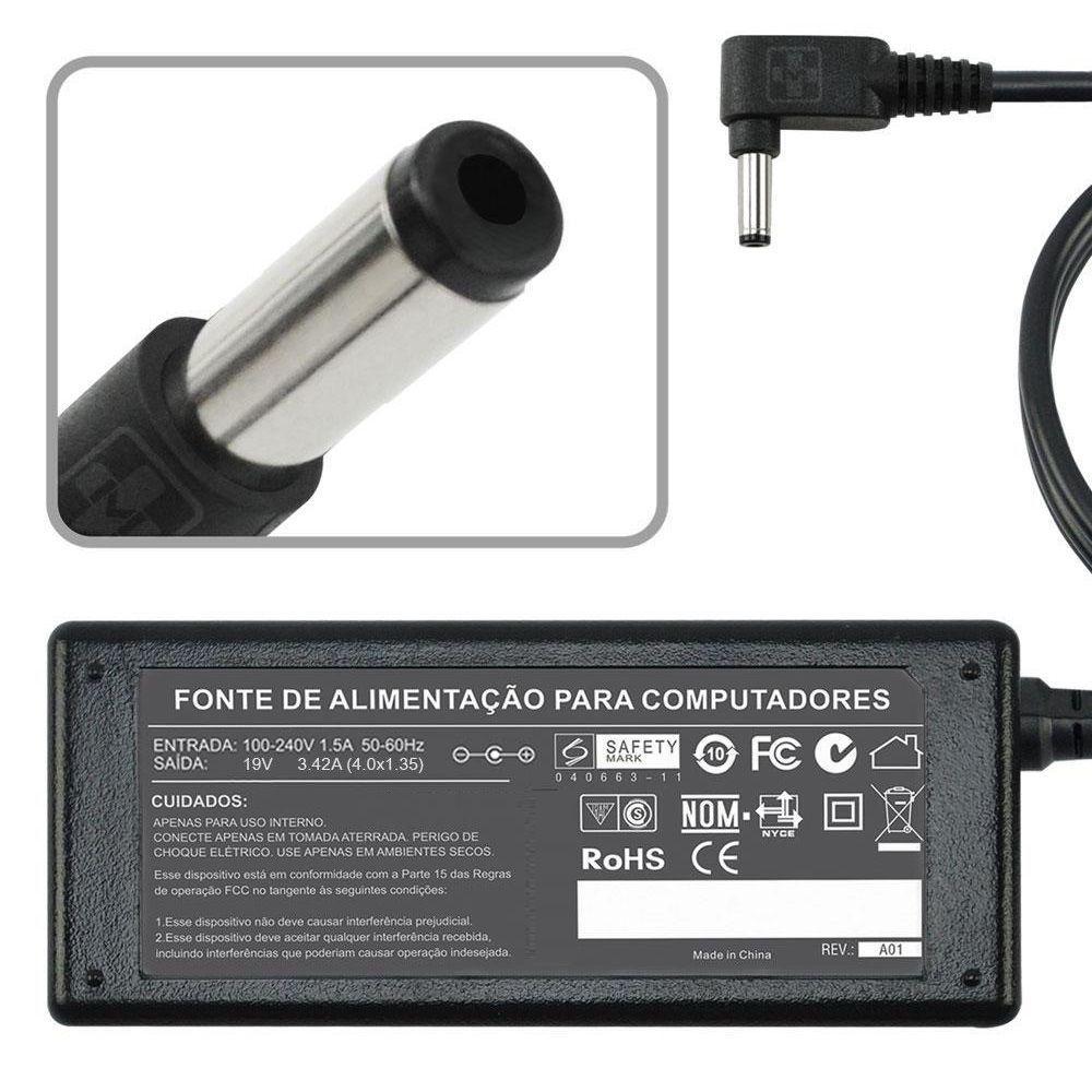Fonte Carregador Para Asus Zenbook X556u 19v 3.42a 65w 816 - EASY HELP NOTE