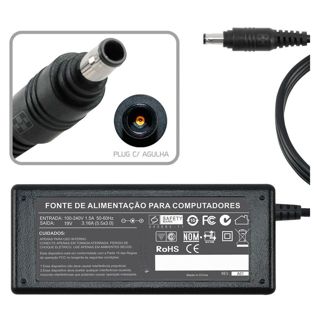 Fonte Carregador Para Samsung Q45 Séries 19v 3.16a 60w 500 - EASY HELP NOTE