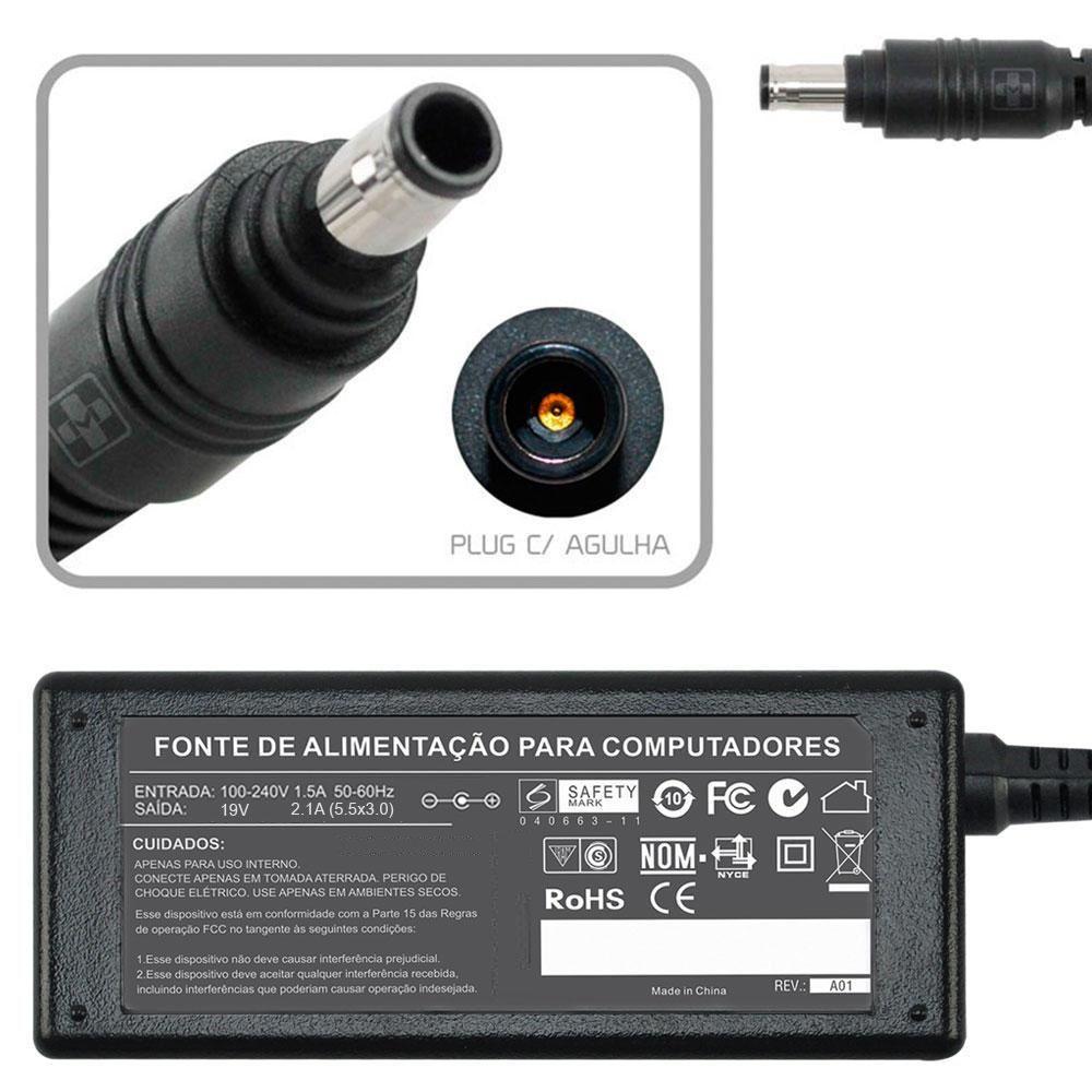 Fonte Carregador Para Samsung Rv410 19v 2.1a 40w 788 - EASY HELP NOTE