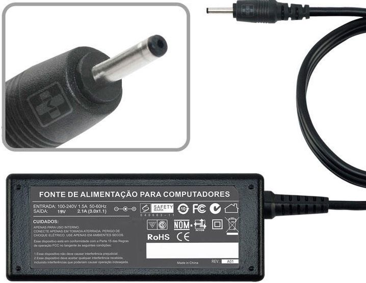 Fonte Carregador Para samsung Series 5, 7, 9. 19v 2.1a 40w MM 646 - EASY HELP NOTE