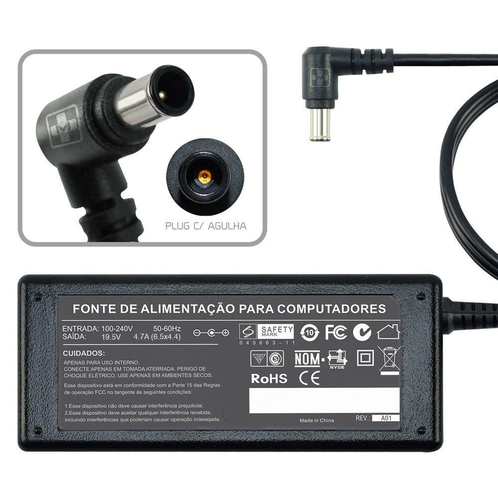 Fonte Carregador Para Sony Vaio 19,5v 90w Pcg Vgn Vgp 493 - EASY HELP NOTE