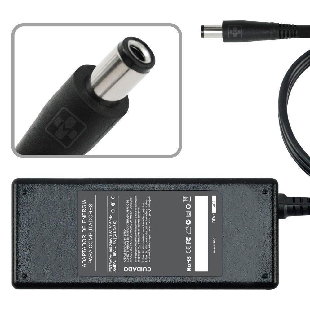 Fonte Carregador Para Toshiba Portege 3500 Series 15v 5a MM 432 - EASY HELP NOTE