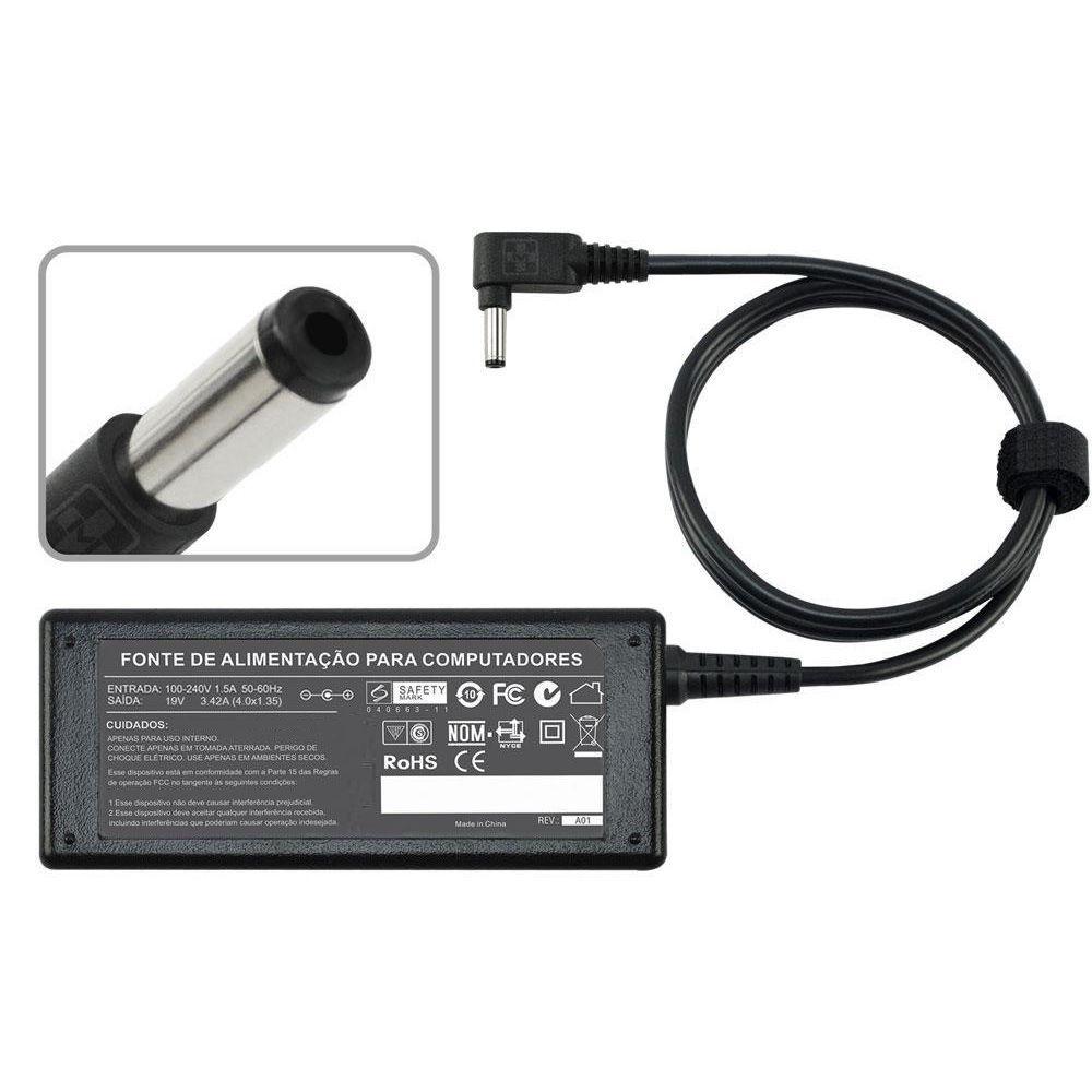 Fonte Para Asus Zenbook Prime Ux32vd 1.35mm 19v 3,42a  MM 816 - EASY HELP NOTE