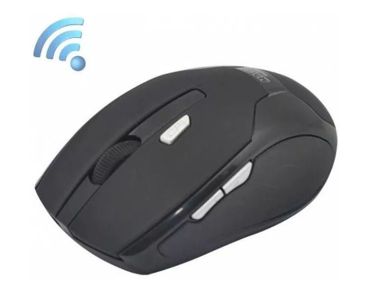 Mouse Óptico Sem Fio Usb 2.4ghz - 1600dpi Preto - EASY HELP NOTE