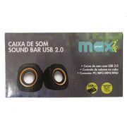 CAIXA SOM USB SOUND BAR MAXPRINT LARANJA