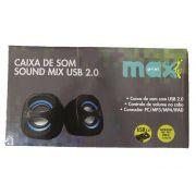 CAIXA SOM USB SOUND MIX MAXPRINT AZUL