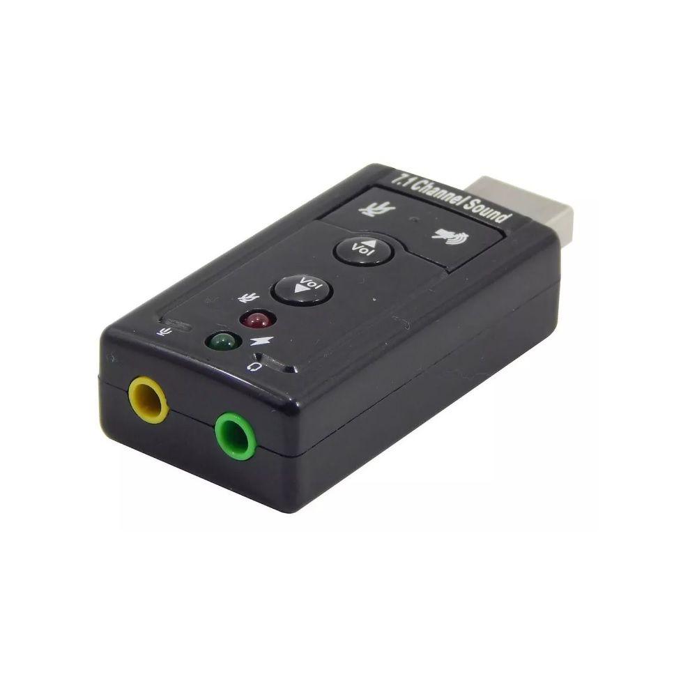 ADAPTADOR USB SOM 2.0 VIRTUAL 7.1 CANAIS  - TELLNET
