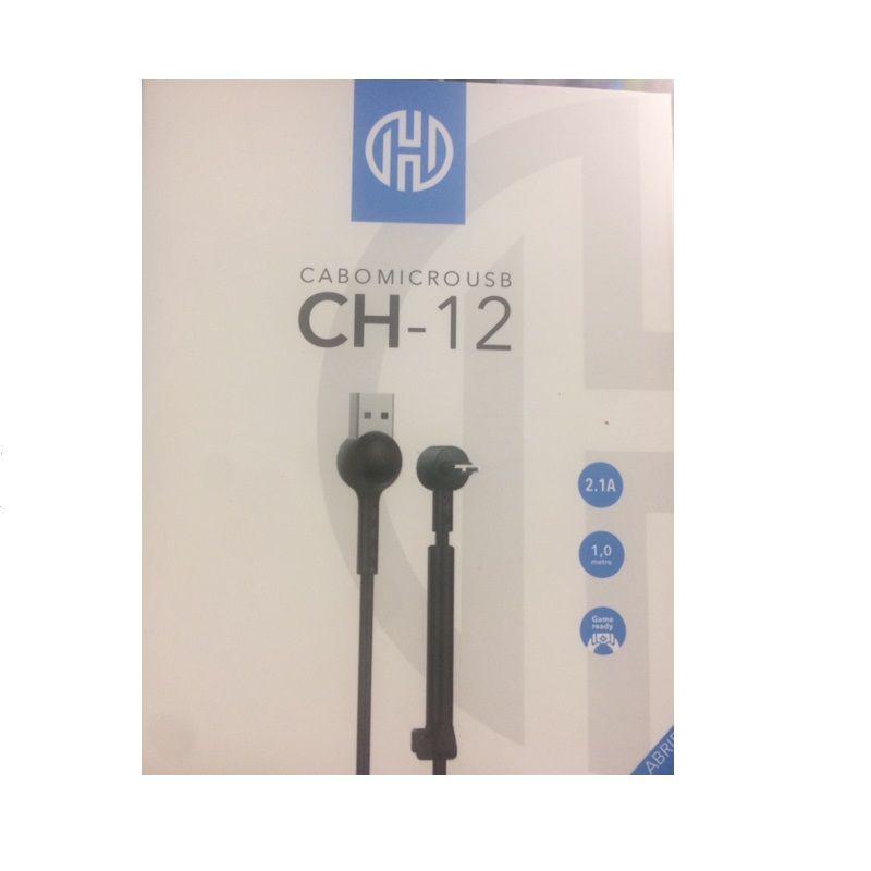 CABO USB X MICRO USB 2.1A HOOPSON CH-12 1M PRETO  - TELLNET
