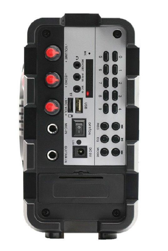 CAIXA SOM BLUETOOTH USB/SD HOOPSON C/ CONTROLE REMOTO E MICROFONE RB004-P  - TELLNET