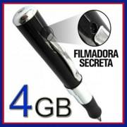 Caneta Espi� Filmadora 4gb Audio E Video Resolu��o 640x480