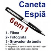 Caneta Espi�, Filma, Fotografa Colorido E Grava �udio- com prateado