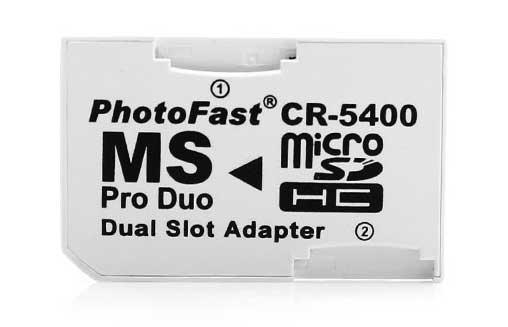 10 Pçs Adaptador P/ Micro Cartão Sd/tf Dual 2 Slot CR-5400