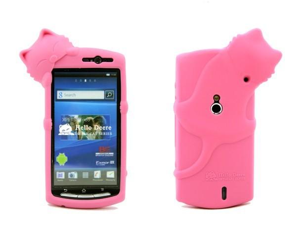 Capa Silicone Sony Xperia SMT15i Gatinho