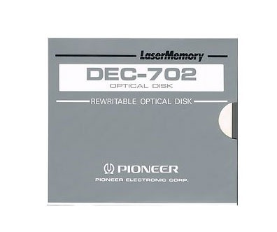 Disco Óptico Regravável Lasermemory Pioneer (4.7Gb) Dec-702