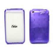 Capa de silicone roxa + película espelhada para iPhone 3G iSkin solo FX