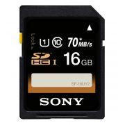 Cartão SDHC UHS-I U1 Sony 16GB 70mb/s Class10 DSLR - SF16UY2/TQ