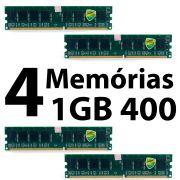 Lote C/ 4 Memória Desktop 1GB DDR1 400mhz PC3200 Genérica S/ ETIQUETA