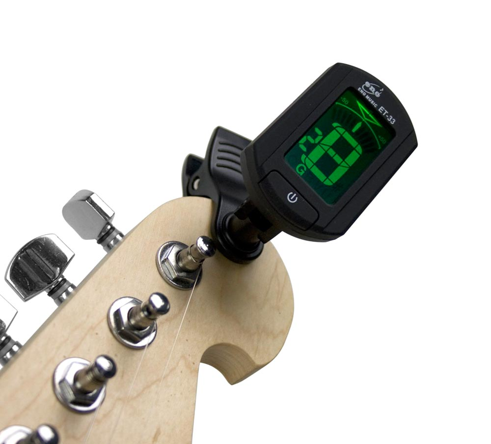Afinador Digital Cromático Clip Eno ET-33 Guitarra, Baixo, Violino, Ukulele