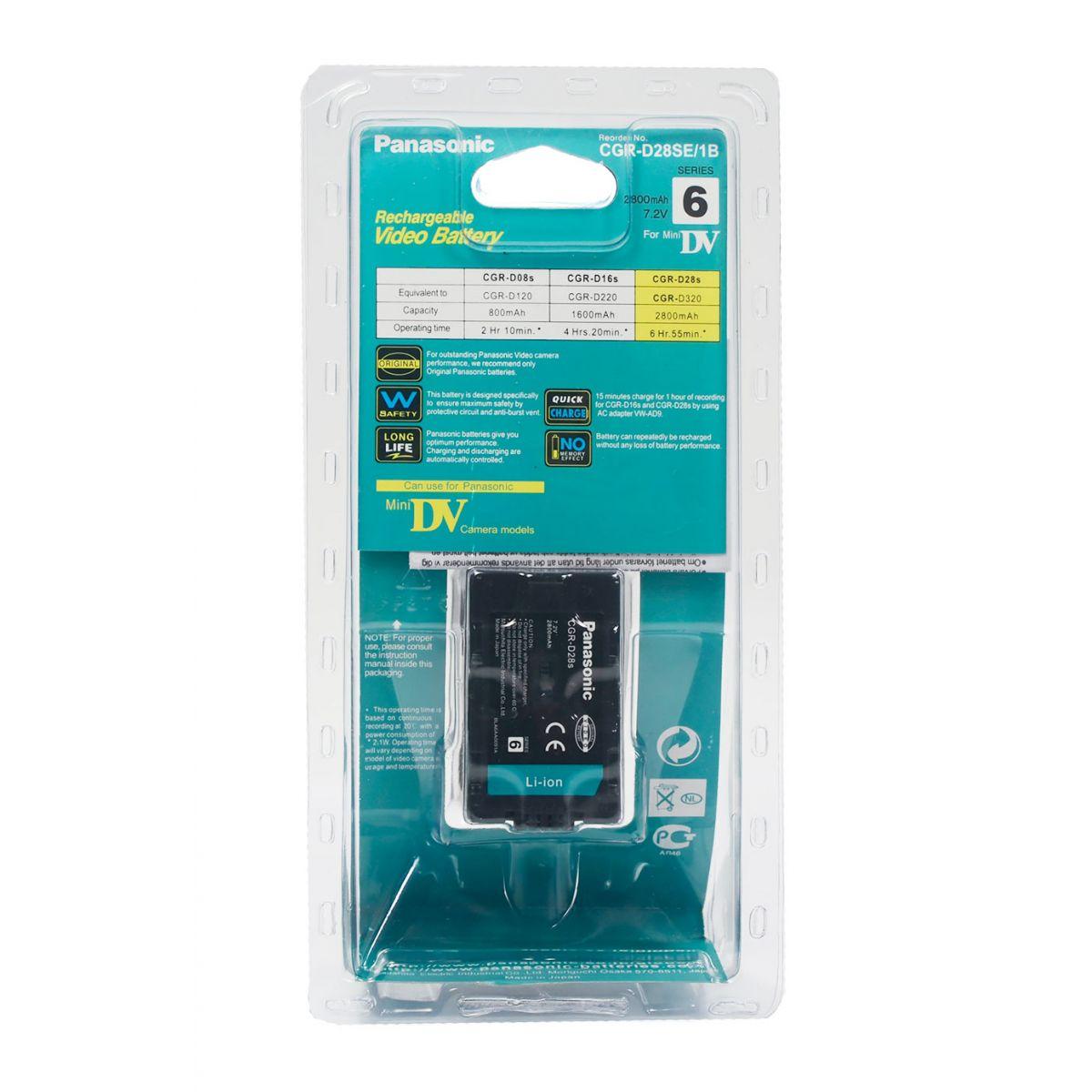 Bateria Panasonic Cgr-d28s - DVC15 DS11EN EX3