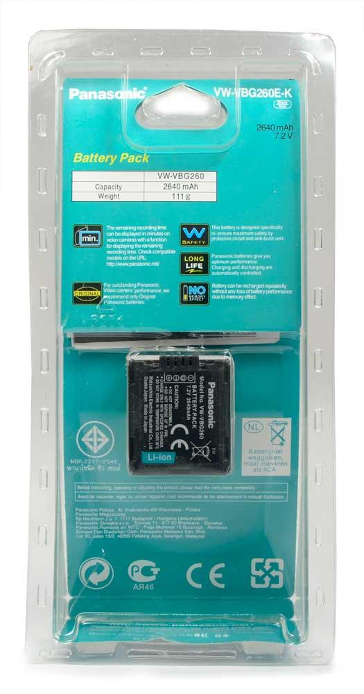 Bateria Panasonic VW-VBG260 VW-VBG260E-K - AG-AC7 AG-AF100 AG-HMC40 HDC-HS700