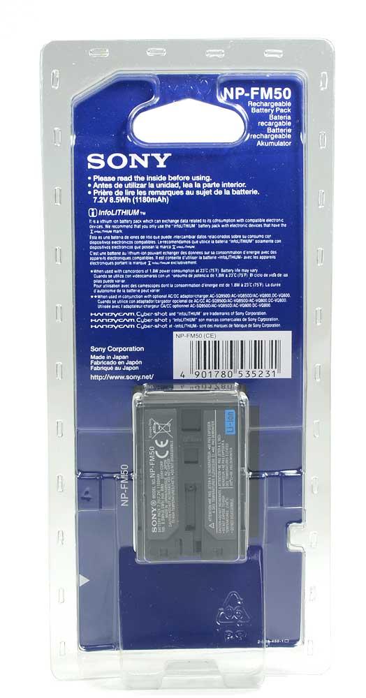 Bateria Sony NP-FM50 - Mvc-cd200 Ccd-trv108 Dvd91 FM90 QM91D