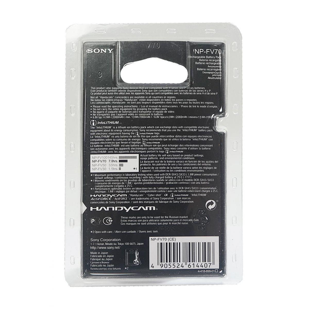 Bateria Sony NP-FV70 Hdr-xr160e Hdr-pj50ve